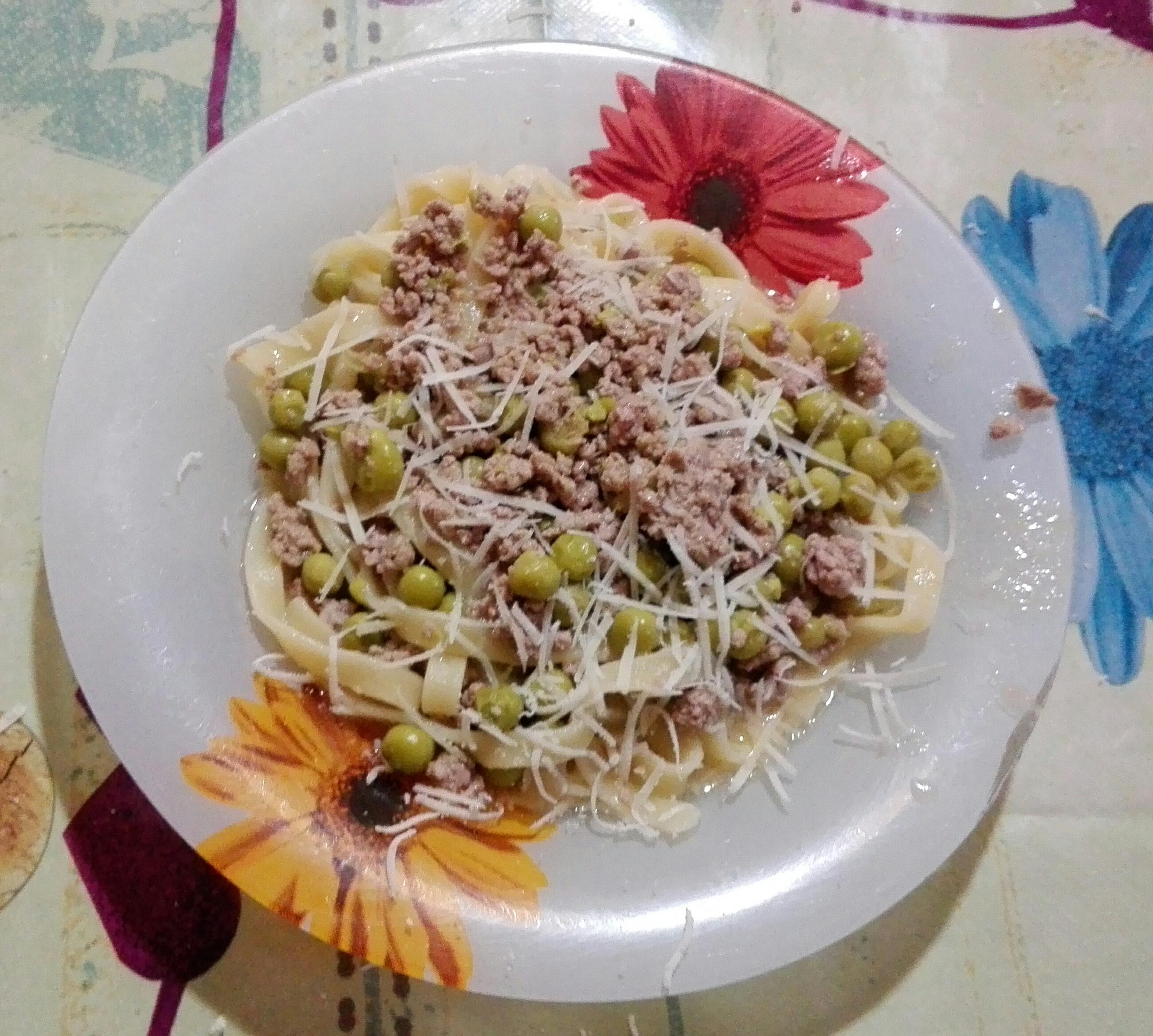 Photo of Tagliatelle carne macinata e piselli!